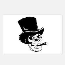 Top Hat Skull Postcards (Package of 8)