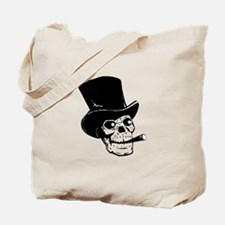 Top Hat Skull Tote Bag