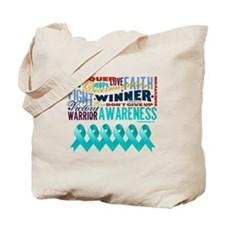 Empowering Ovarian Cancer Tote Bag