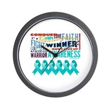 Empowering Ovarian Cancer Wall Clock