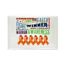 Empowering Leukemia Rectangle Magnet