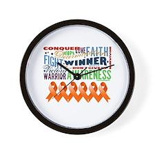 Empowering Leukemia Wall Clock