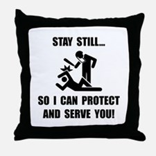 Protect Serve Throw Pillow