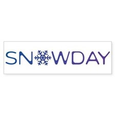 Snowday Bumper Sticker