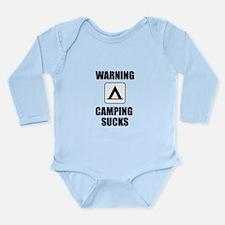 Camping Sucks Long Sleeve Infant Bodysuit