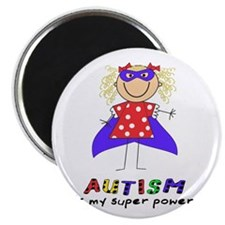 """Autism Is My Super Power! 2.25"""" Magnet (100 pack)"""
