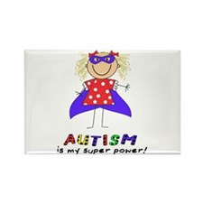 Autism Is My Super Power! Rectangle Magnet (100 pa
