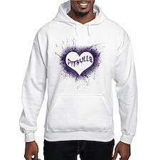 Flaming Pitbull Love Hoodie