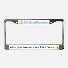 Faith is Knowing V3 License Plate Frame