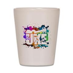 Color Me Uke! Shot Glass