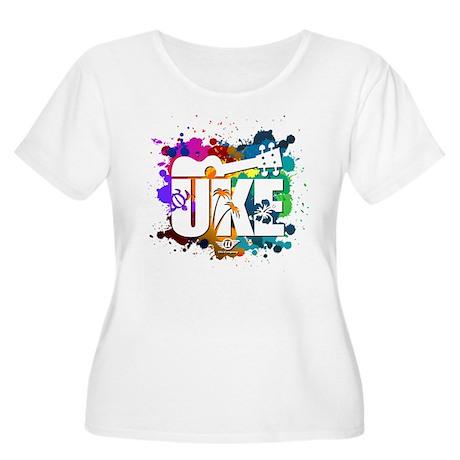 Color Me Uke! Women's Plus Size Scoop Neck T-Shirt