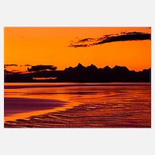 Alaska, Chugach Mountains, sunset