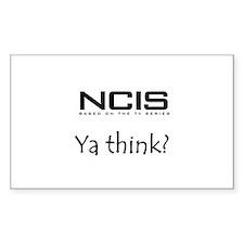 NCIS Ya Think? Decal
