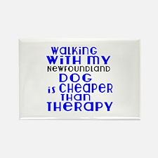Walking With My Newfoundland Dog Rectangle Magnet