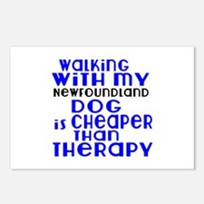 Walking With My Newfoundl Postcards (Package of 8)