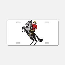 Canadian Police Mountie Aluminum License Plate