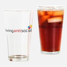 Living anti social Drinking Glass