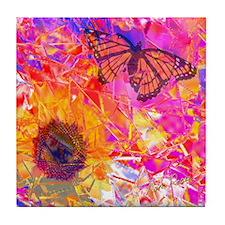 Sunflower Under Glass Tile Coaster