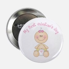 "Baby 1st Valentine 2.25"" Button"