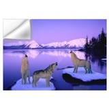 Howling wolf Wall Decals