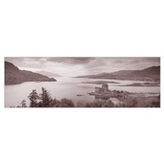 Eilean Donan Castle on Loch Alsh and Duich Scotlan Poster
