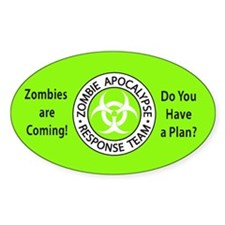 Zombies Neon Green Bumper Stickers