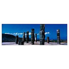 Atlantes Figures Toltec Ruins Tula Hidalgo Mexico Poster