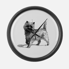 Cairn Terrier Large Wall Clock