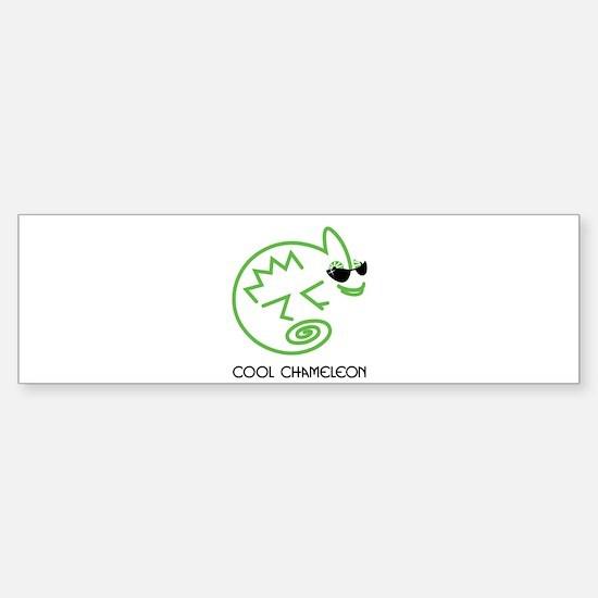 Cool Chameleon Sticker (Bumper)