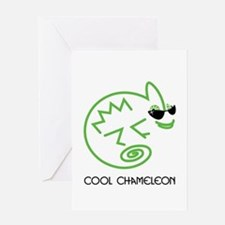 Cool Chameleon Greeting Card