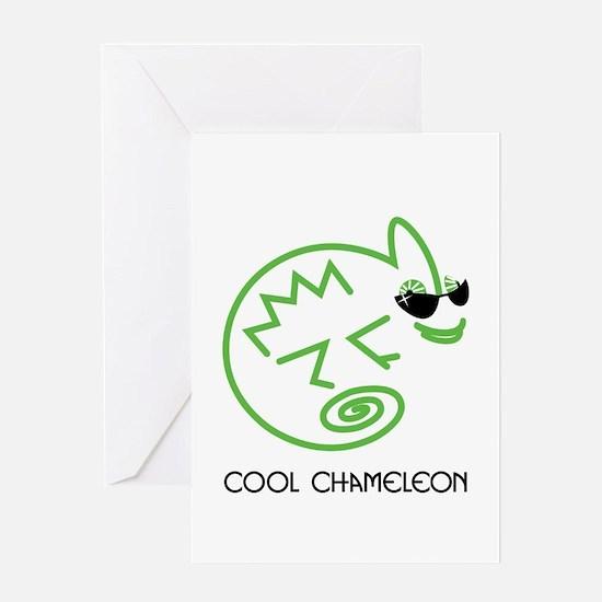 Cool Chameleon Greeting Card