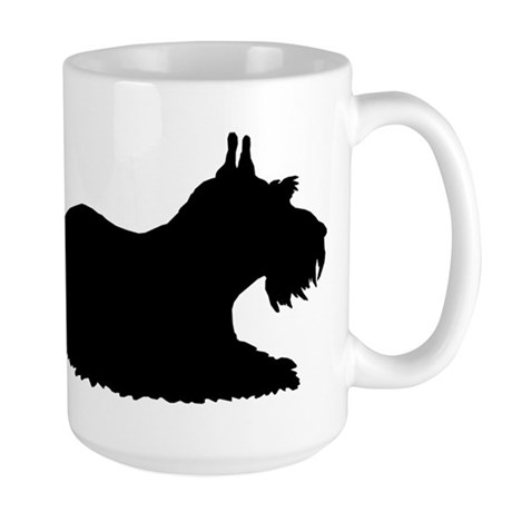 Schnauzer Silhouette Large Mug