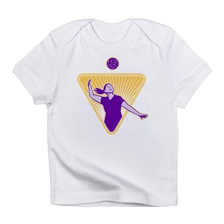 Volleyball Indoor Woman Infant T-Shirt