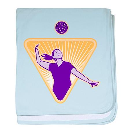 Volleyball Indoor Woman baby blanket