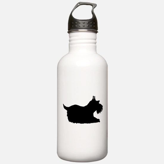 Schnauzer Silhouette Water Bottle
