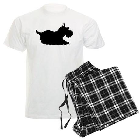 Schnauzer Silhouette Men's Light Pajamas