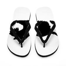 Schnauzer Silhouette Flip Flops