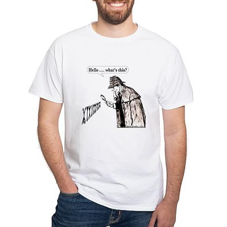 """Hello, What's This?"" White T-Shirt"