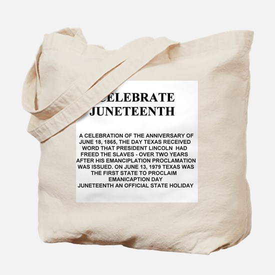 Celebrate Juneteenth Tote Bag