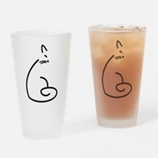 Artistic Swirly Cat Drinking Glass