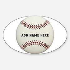 Baseball Name Customized Sticker (Oval)