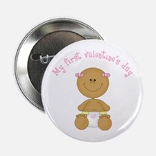 "Ethnic Baby 1st Valentine 2.25"" Button"