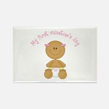 Ethnic Baby 1st Valentine Rectangle Magnet