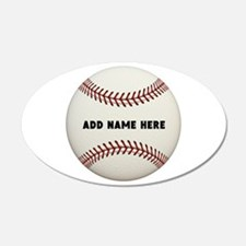 Baseball Name Customized Wall Decal