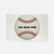 Baseball Name Customized Rectangle Magnet