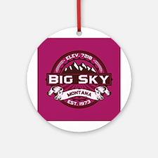 Big Sky Raspberry Ornament (Round)