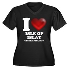 I Heart Isle of Islay Women's Plus Size V-Neck Dar