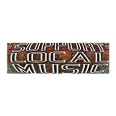 Support Local Music Wall Decal