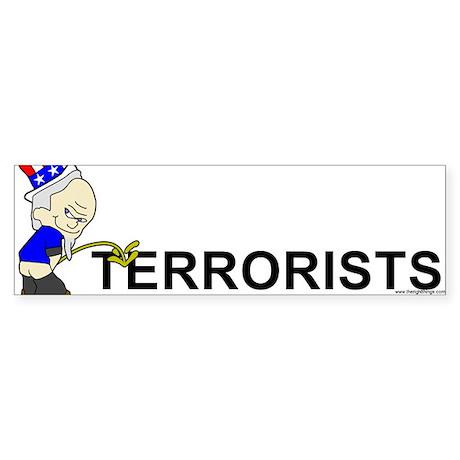Piss On Terrorists Bumper Sticker