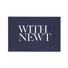 """With Newt"" Rectangle Magnet"
